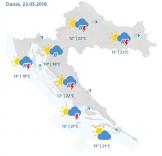 DOBRE I LOŠE VIJESTI: Kiša moguća još danas i u četvrtak, za vikend sunčano, ali evo što se sprema dalje…