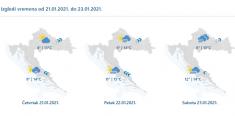 IZ NEGATIVNIH U NATPROSJEČNE TEMPERATURE Od danas olujno jugo i kiša, najgore će biti u subotu!