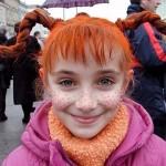 Ilustracija: djevojčica s pjegicama