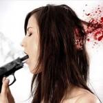 Ilustracija: samoubojstvo žene