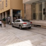 Parkirani automobil na Kalelargi (Foto: Ivan Katalinić)