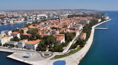 parasail Zadar Poluotok panorama letenje avion morske orgulje